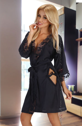 Beauty Night Ambrosia Black Dressing Gown