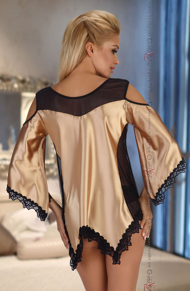 Beauty Night Malvine Gold Lingerie Set