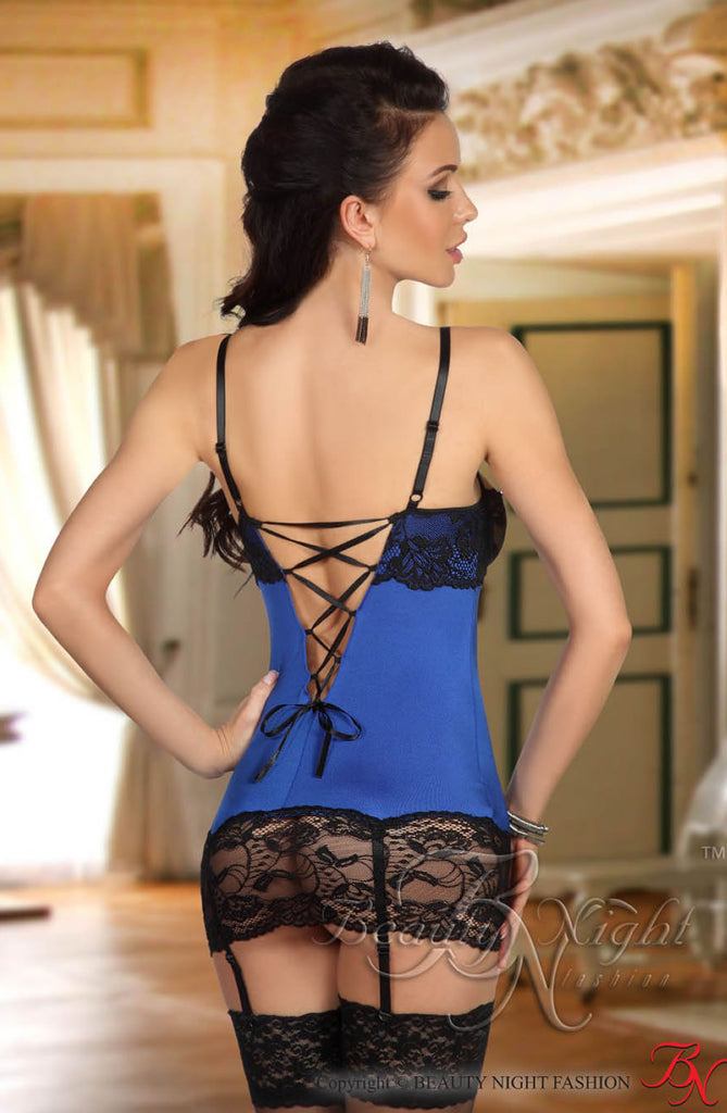 Beauty Night Shirley Chemise Dark Blue
