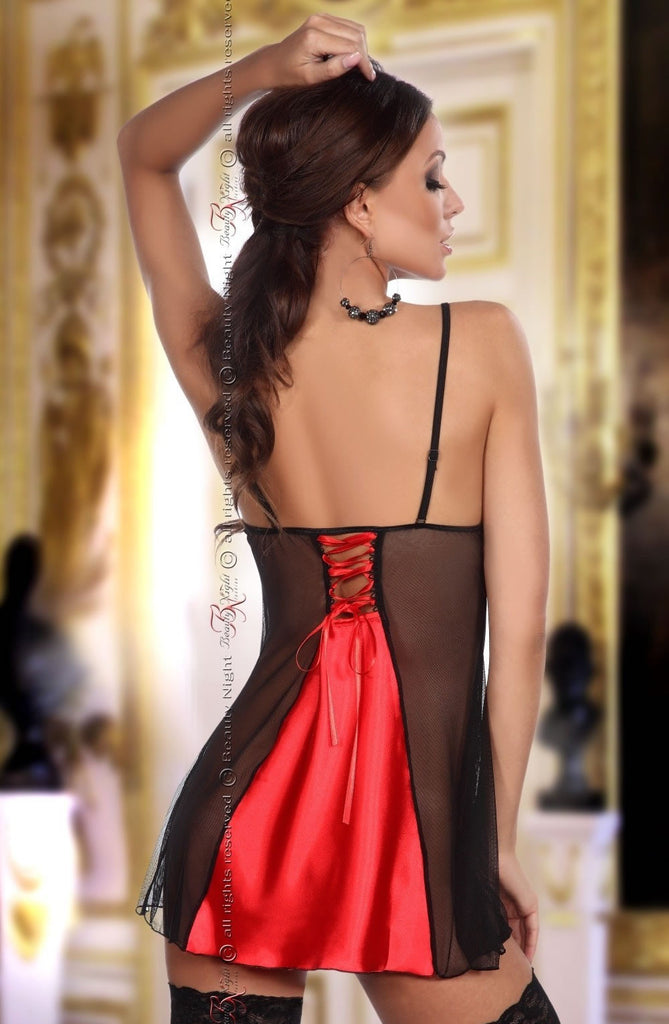 Beauty Night Michele Chemise Red