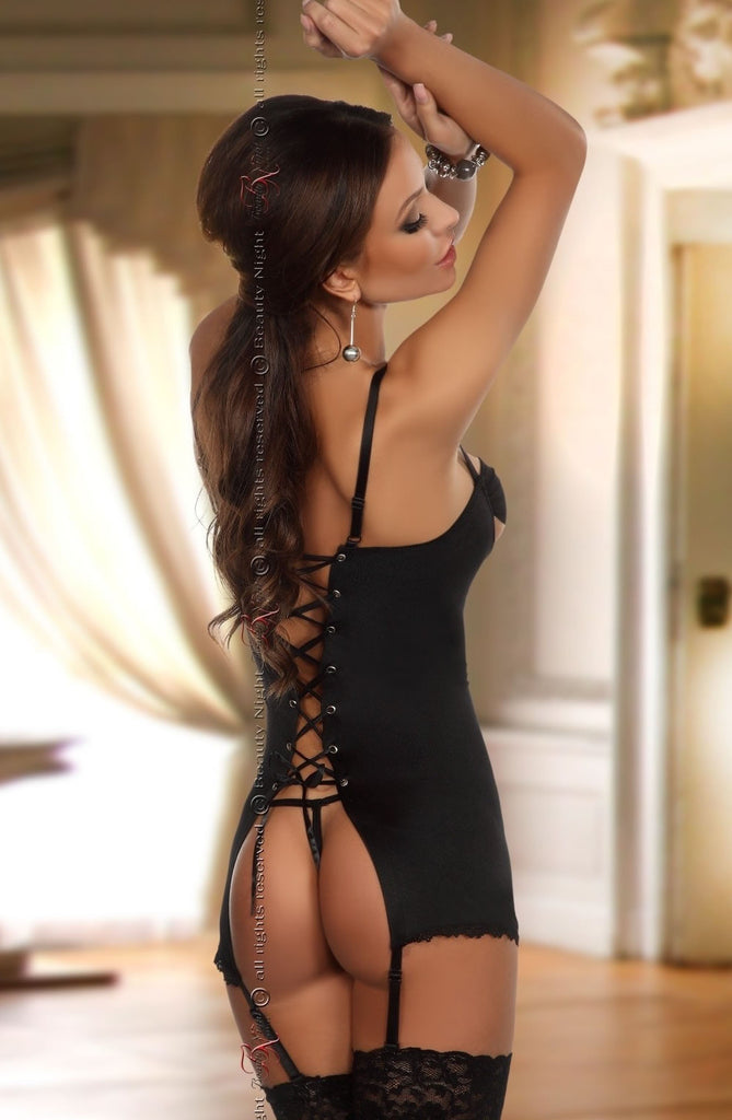 Beauty Night Adrienne Black Chemise