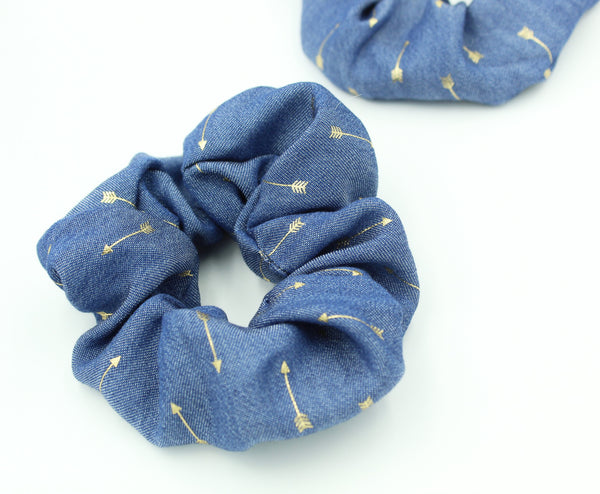 Gold Arrow Printed Hair Scrunchie I The Enchanted Magnolia