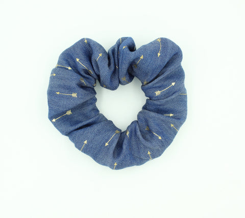 Girls Gold Arrow Printed Hair Scrunchie I The Enchanted Magnolia