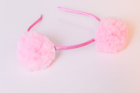 Girls Pom Pom Headbands I The Enchanted Magnolia