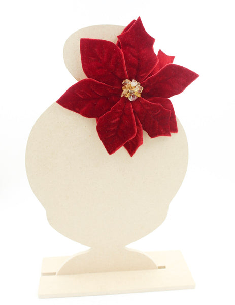 Red Poinsettia Hair Clip I The Enchanted Magnolia