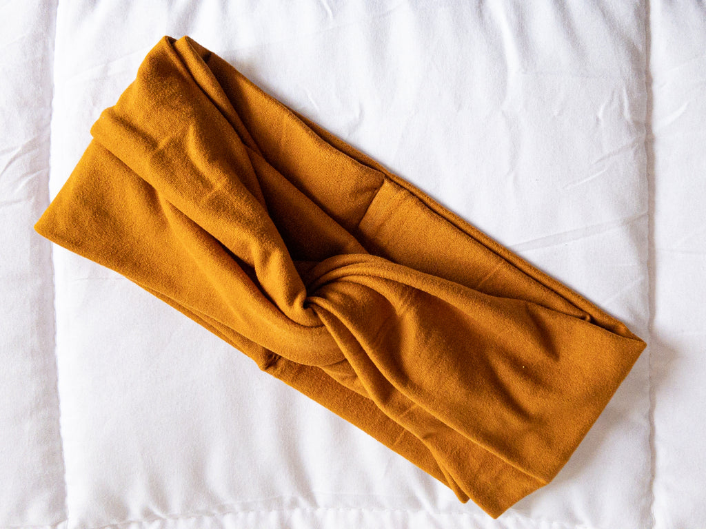 Kids Turmeric Twisted Turban Headband I The Enchanted Magnolia