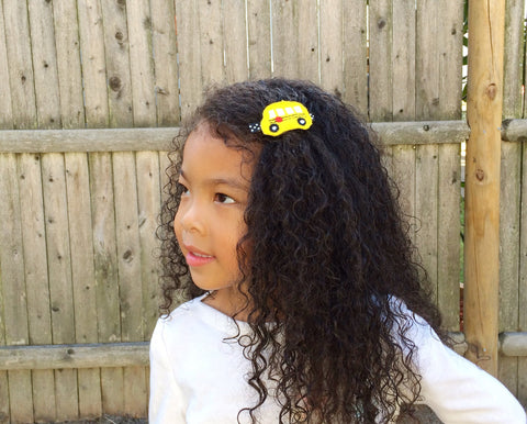 School Bus Barrette Clips - The Enchanted Magnolia