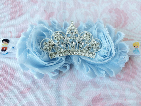 Girls Baby Blue Princess Tiara Headband I The Enchanted Magnolia