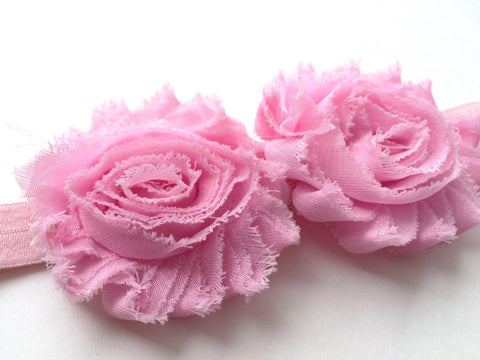 Pink Flower Headband I The Enchanted Magnolia