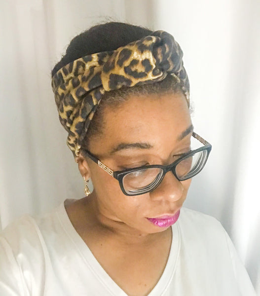 Leopard Animal Print Knotted Headband I The Enchanted Magnolia