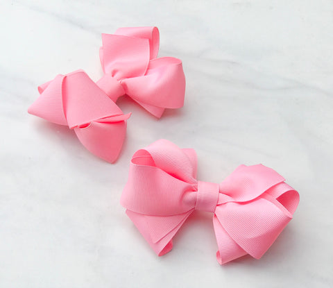 Pink Double Boutique Hair Bow - The Enchanted MagnoliaPink