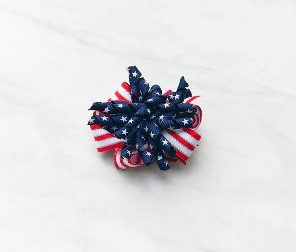 Patriotic Korker Hair Bow
