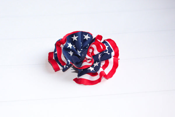 Stars and Stripes Wavy Hair Bow I The Enchanted Magnolia