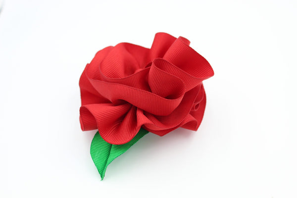 Red Flower Hair Clip I The Enchanted Magnolia