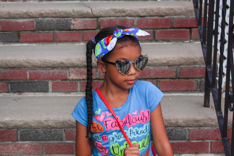 Colorful Unicorn and Rainbow Top Knot Headband - The Enchanted Magnolia