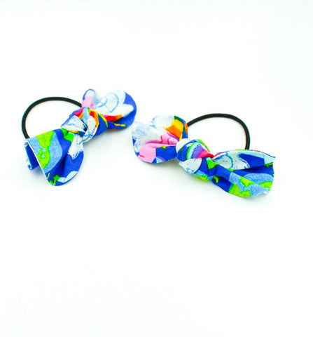 Rainbow Unicorn Top Knot Ponytail Hair Bows I The Enchanted Magnolia