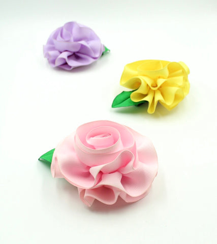 Ribbon Flower Hair Clip Bundle
