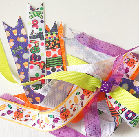 Trick or Treat Ponytail Ribbons Streamer I The Enchanted Magnolia