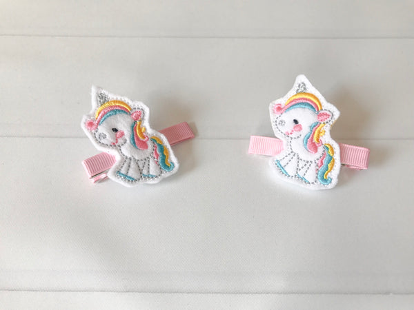 Unicorn Hair Barrette Set I The Enchanted Magnolia