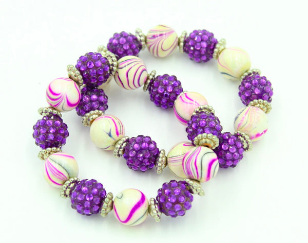 Women's Purple Stretch Bracelet I The Enchanted Magnolia