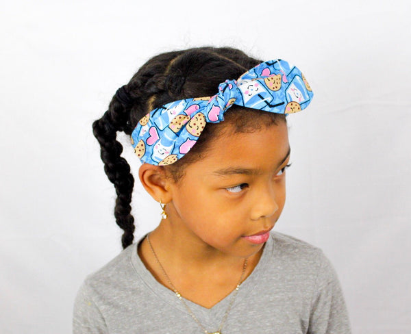 Cookies and Milk Top Knot Headband I The Enchanted Magnolia