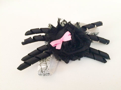 Little Girl Spooky Black Spider Headband I The Enchanted Magnolia
