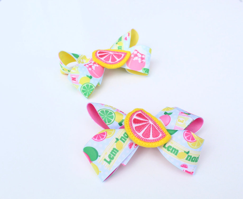 Lemonade Hair Bow I The Enchanted Magnolia
