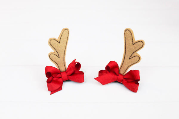 Reindeer Antler Hair Clips I The Enchanted Magnolia
