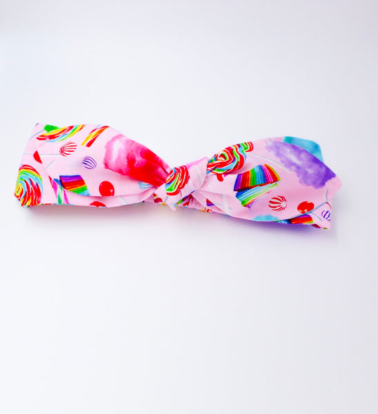 Rainbow Candy Top Knot Headband