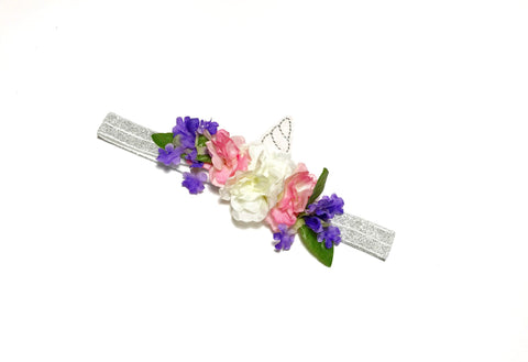 Baby Girls Unicorn Headband Silver / Pink / Purple I The Enchanted Magnolia