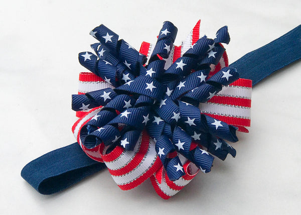 Baby Patriotic Korker Headband - The Enchanted Magnolia
