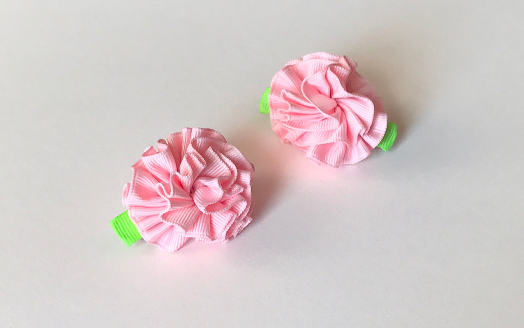 Baby Girl Ribbon Flower Hair Clips - The Enchanted Magnolia