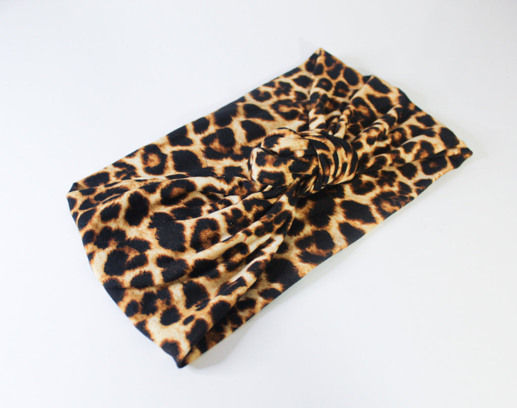 Cheetah Animal Print Knotted Headband I The Enchanted Magnolia