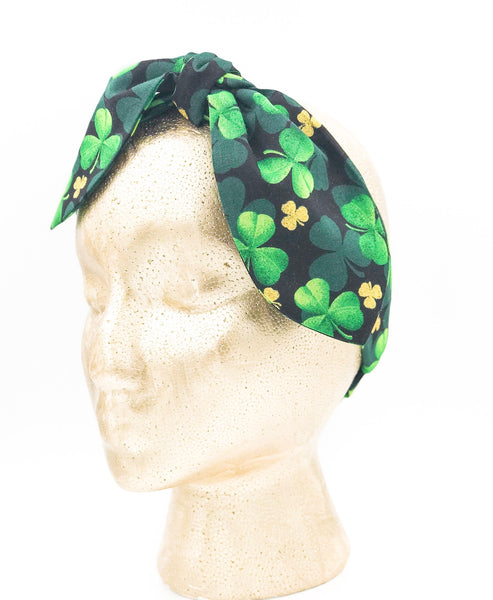 Green Clover Top Knot Headband I The Enchanted Magnolia