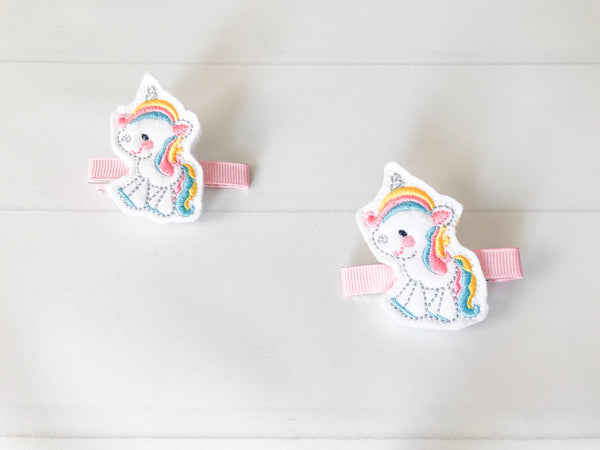 Unicorn Hair Barrette Set - The Enchanted Magnolia