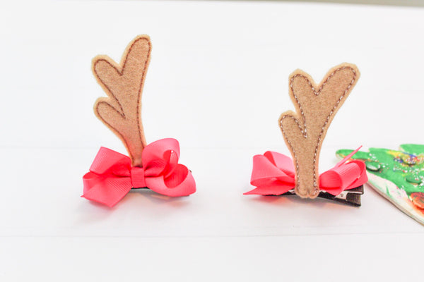 Woodland Deer Antler Hair Clips I The Enchanted Magnolia