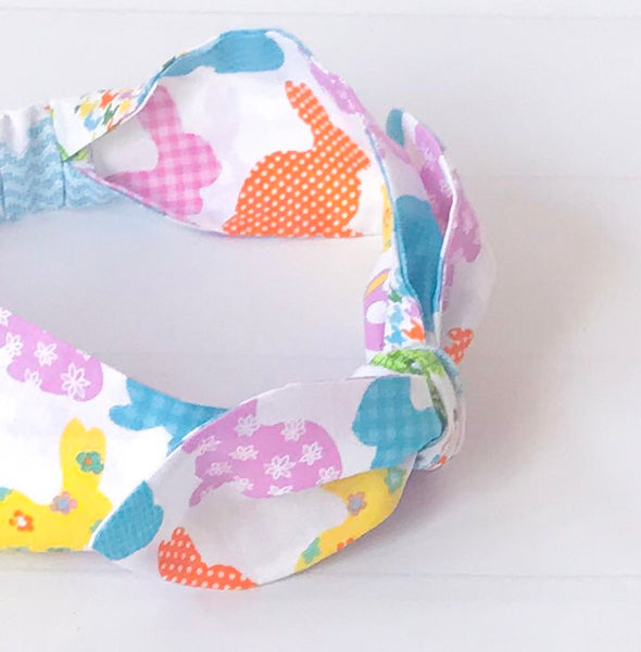 Easter Bunny Top Knot Headband Set I The Enchanted Magnolia