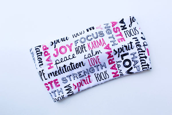 Matching Positive Mindset Twisted Knot Headbands