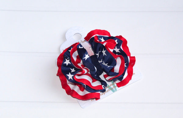 Stars and Stripes Wavy Hair Bow - The Enchanted Magnolia
