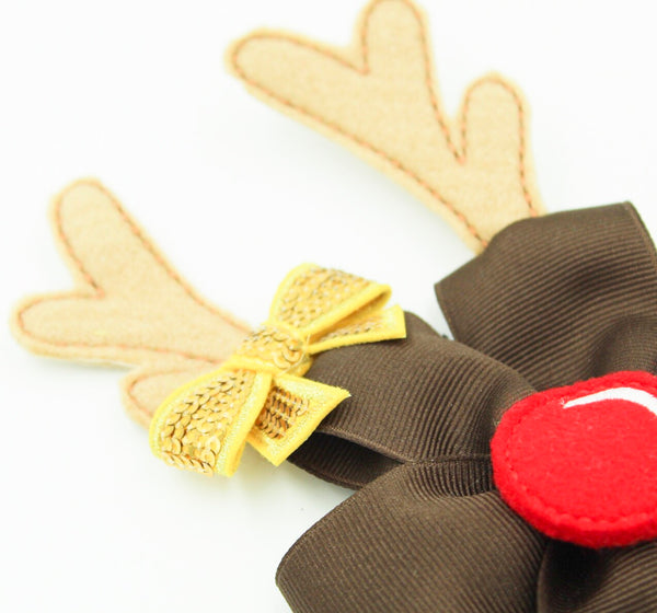 Baby Reindeer Pinwheel Headband I The Enchanted Magnolia