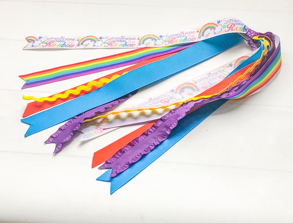 Over the Rainbow Ponytail Ribbon Streamers - The Enchanted Magnolia