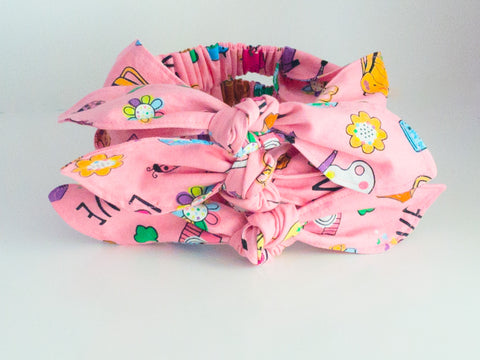 Girl Scouts Activity Print Top Knot Headband I The Enchanted Magnolia