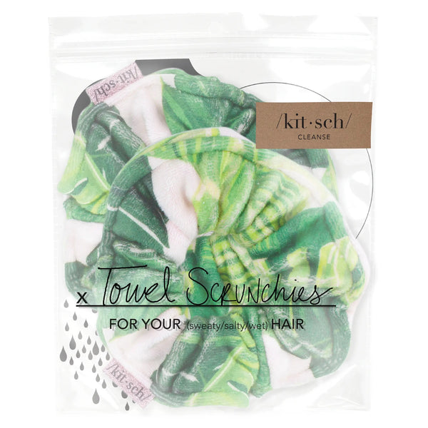 Kitsch Microfiber Towel Scrunchies 2pk - Palm