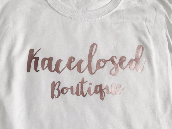 Rose Gold Logo Tee