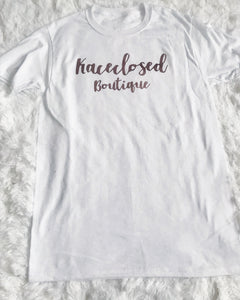 Rose Gold Logo Tee - kaceclosed