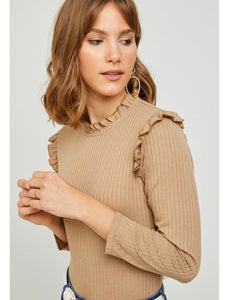 Ruffled Chestnut Top - kaceclosed