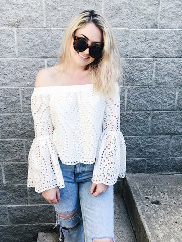 Eyelet Dream Top