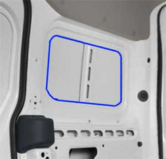 Ford Transit Connect where to cut to install window