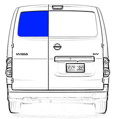 Rear Cargo Door Glass Window Chevy City Express , Nissan NV200