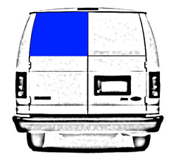 "CRL Fixed ""All Glass Look"" Window for Left Rear Cargo Door 1992-2018 Ford Econoline Vans - 23-7/16"" x 19-7/8"" FW251"